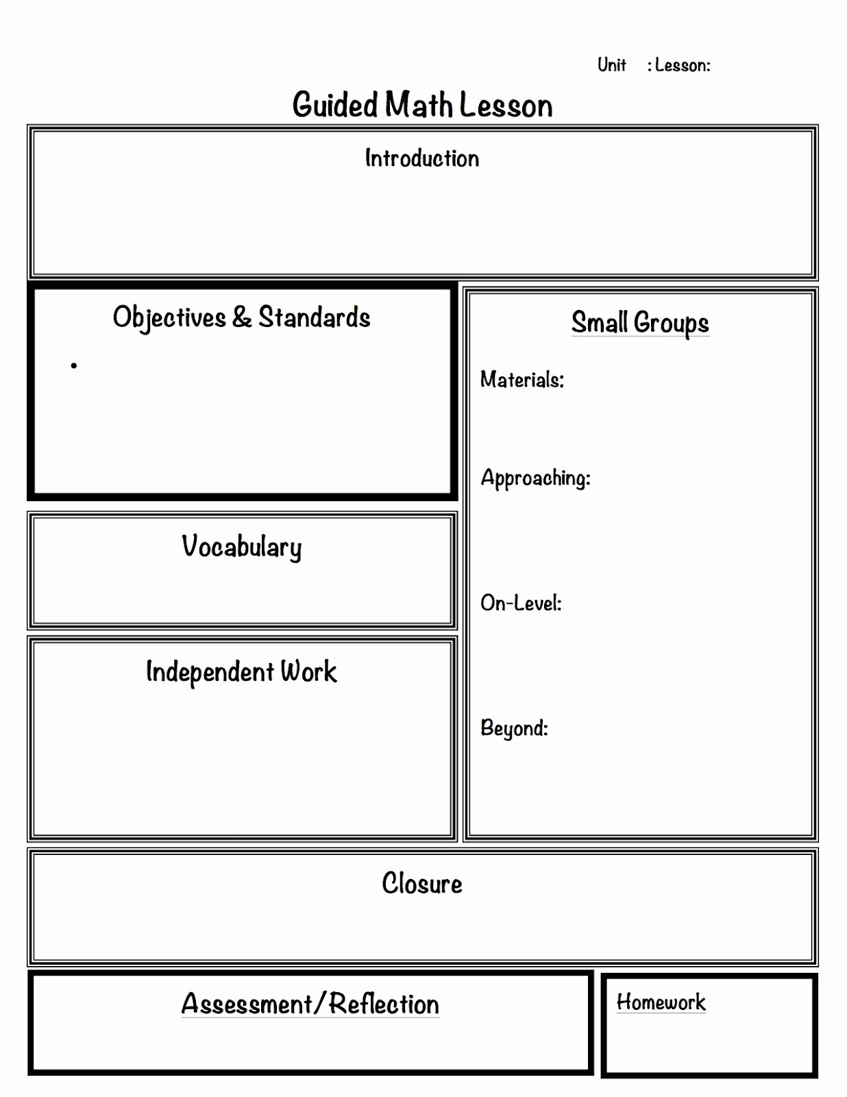 Math Lesson Plan Template Lovely 2 organized Apples Classroom solutions for Grades 3 5
