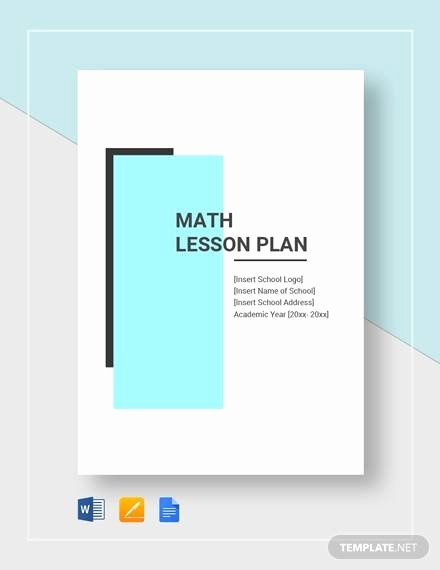 Math Lesson Plan Template Lovely Sample Math Lesson Plan Template 10 Free Documents