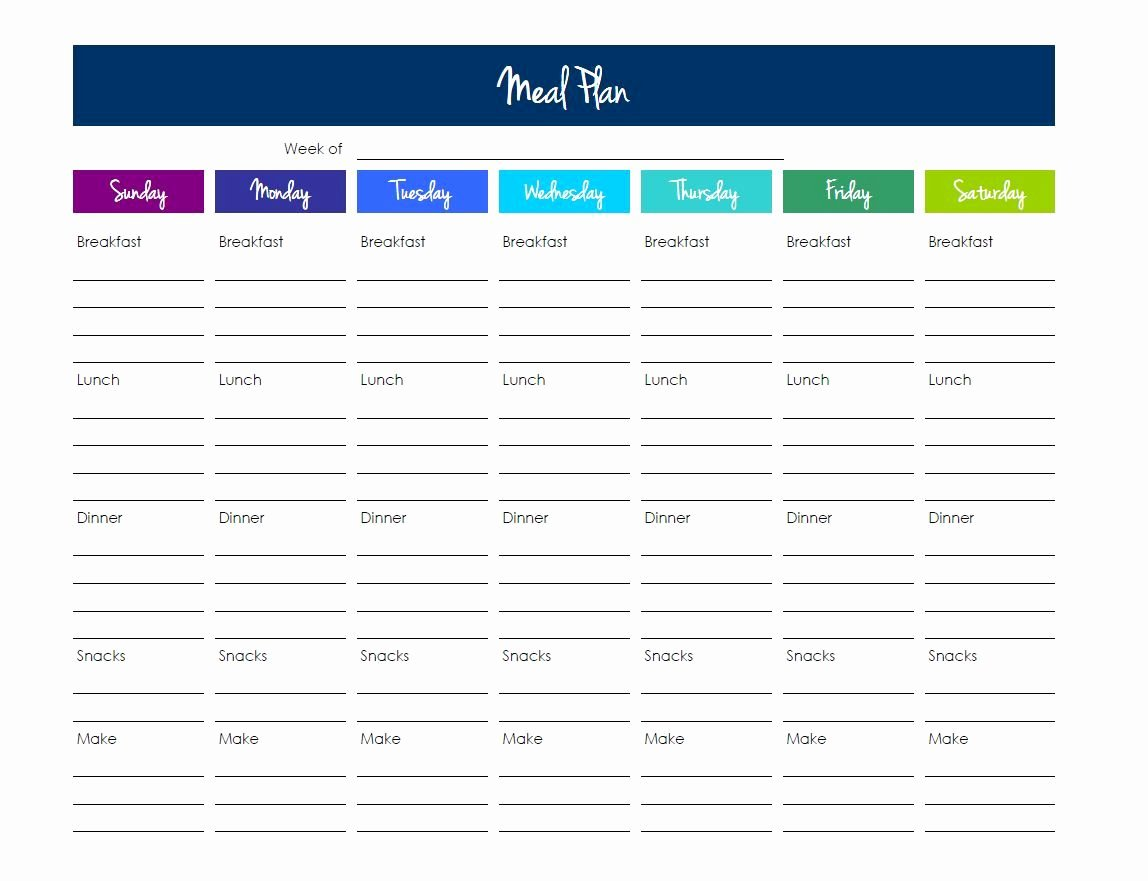 Meal Plan Template Excel Fresh Grocery List Template Excel
