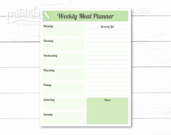 Meal Plan Template Pdf Elegant Editable Meal Planner Template Weekly Meal Planner with