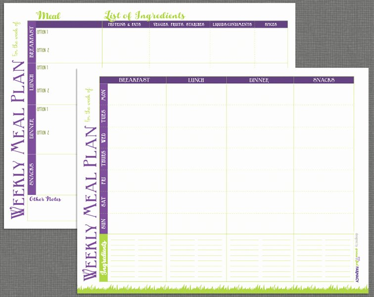 Meal Plan Template Pdf Elegant Printable Meal Prep Templates and Meal Planning Tips