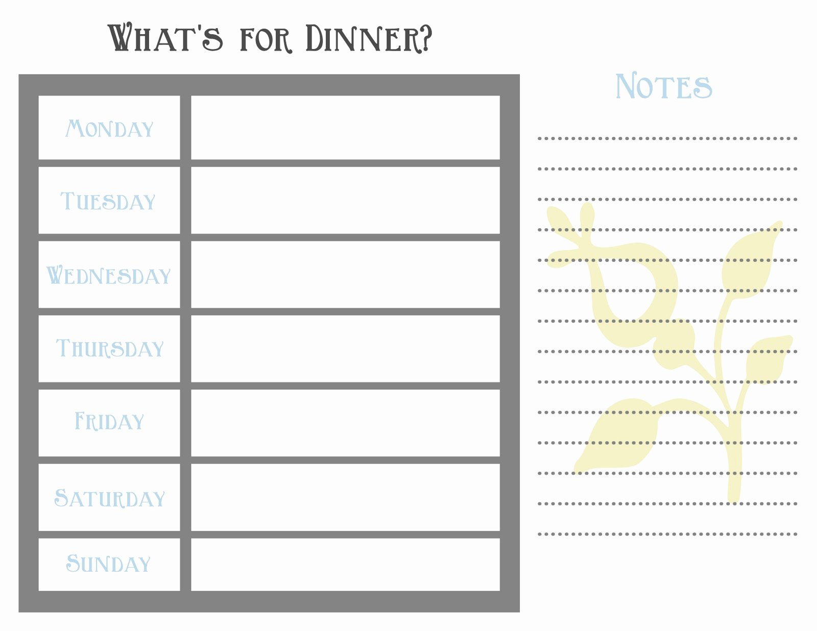 Meal Plan Template Pdf Fresh 7 Day Meal Planner Template