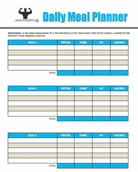 Meal Plan Template Pdf Lovely How to Create A Meal Plan Like A Pro Free Printable Meal
