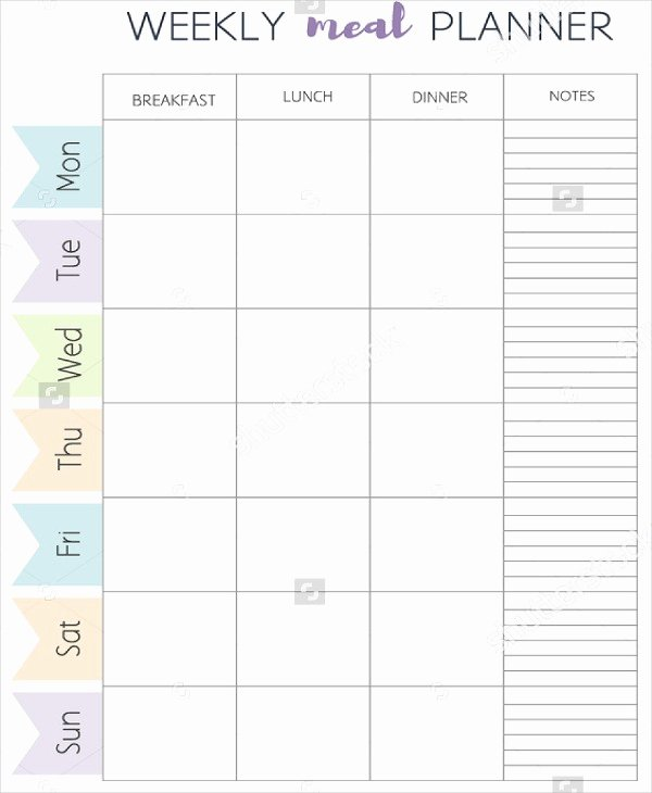 Meal Plan Template Pdf Lovely Meal Plan Template