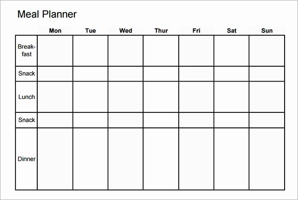Meal Plan Template Pdf Luxury Free 17 Meal Planning Templates In Pdf Excel