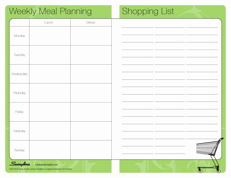 Meal Plan Template Pdf New Meal Planner Template