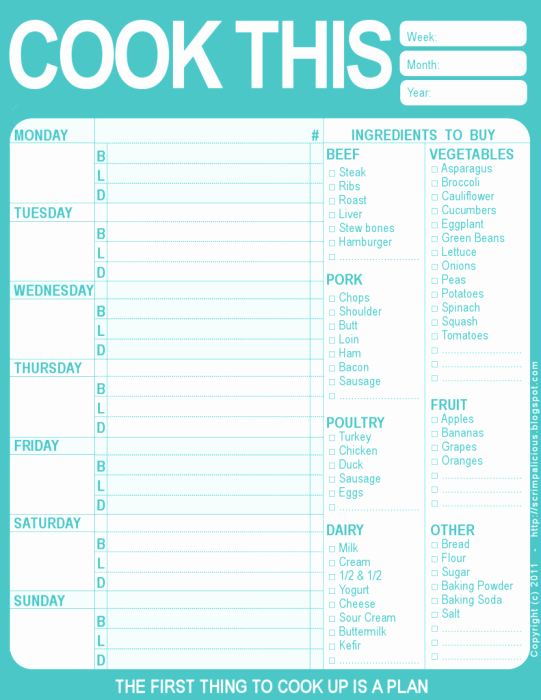 Meal Plan Template Word Beautiful Meal Plan Template Word