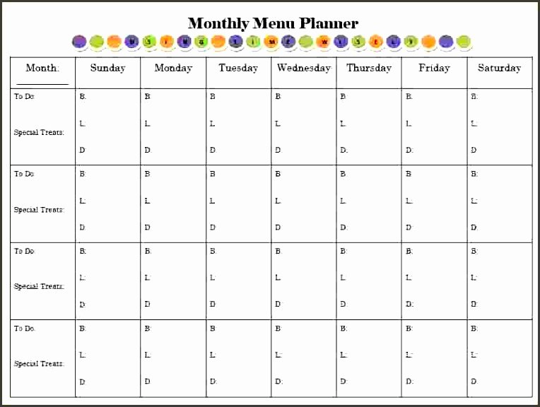 Meal Plan Template Word Best Of 8 Monthly Meal Planner Template Sampletemplatess