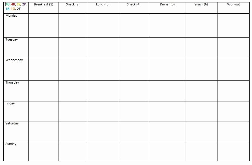 Meal Plan Template Word Elegant How I Prep for the Week