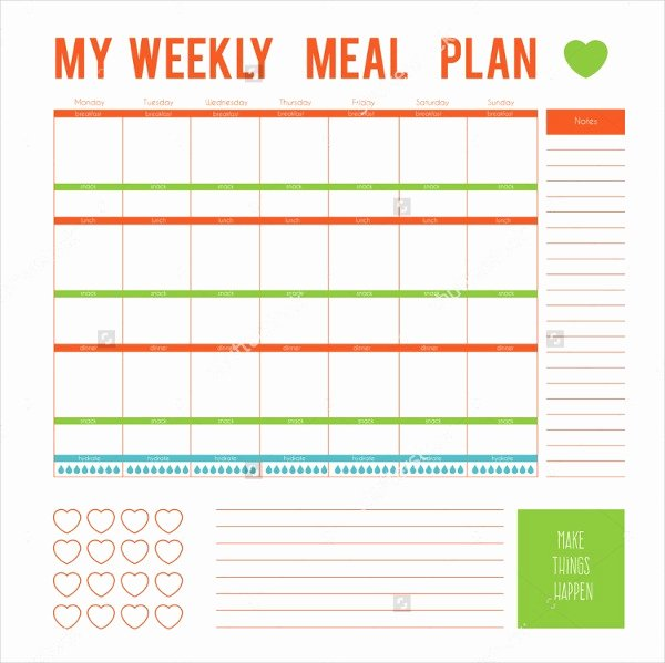 Meal Plan Template Word Inspirational Meal Plan Template