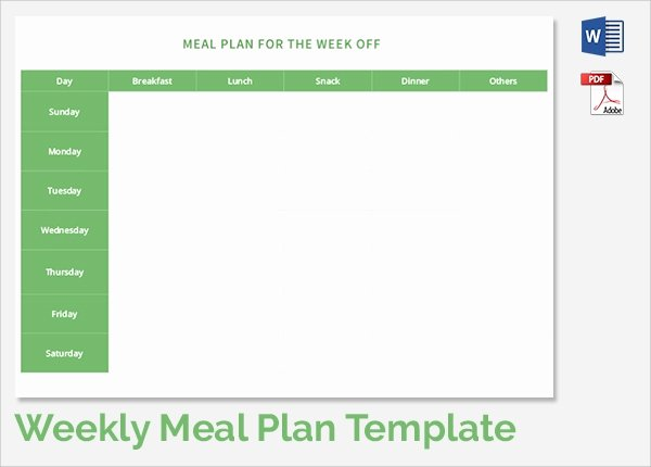 Meal Plan Template Word Luxury Free 37 Sample Weekly Schedule Templates In Google Docs