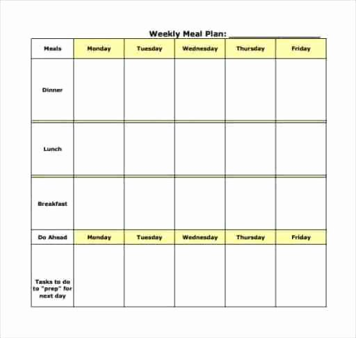 Meal Plan Template Word New Meal Plan Templates Find Word Templates