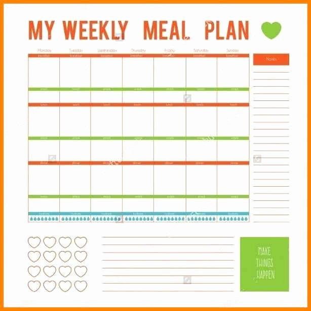 Meal Plan Template Word Unique 12 Editable Menu Planner