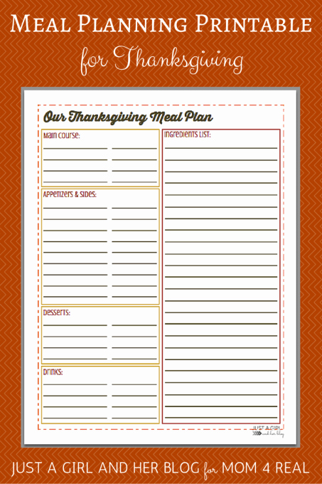 Meal Sign Up Sheet Template Best Of Thanksgiving Menu Meal Planning Free Printable Mom 4 Real