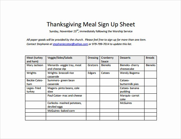 Meal Sign Up Sheet Template Fresh 27 Sample Sign Up Sheet Templates Pdf Word Pages Excel