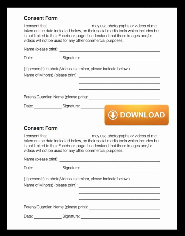 Media Release form Template Beautiful social Media Release form