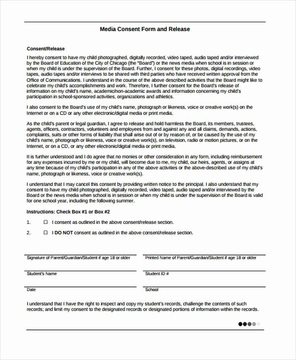 Media Release form Template Best Of Free 38 Release form Templates