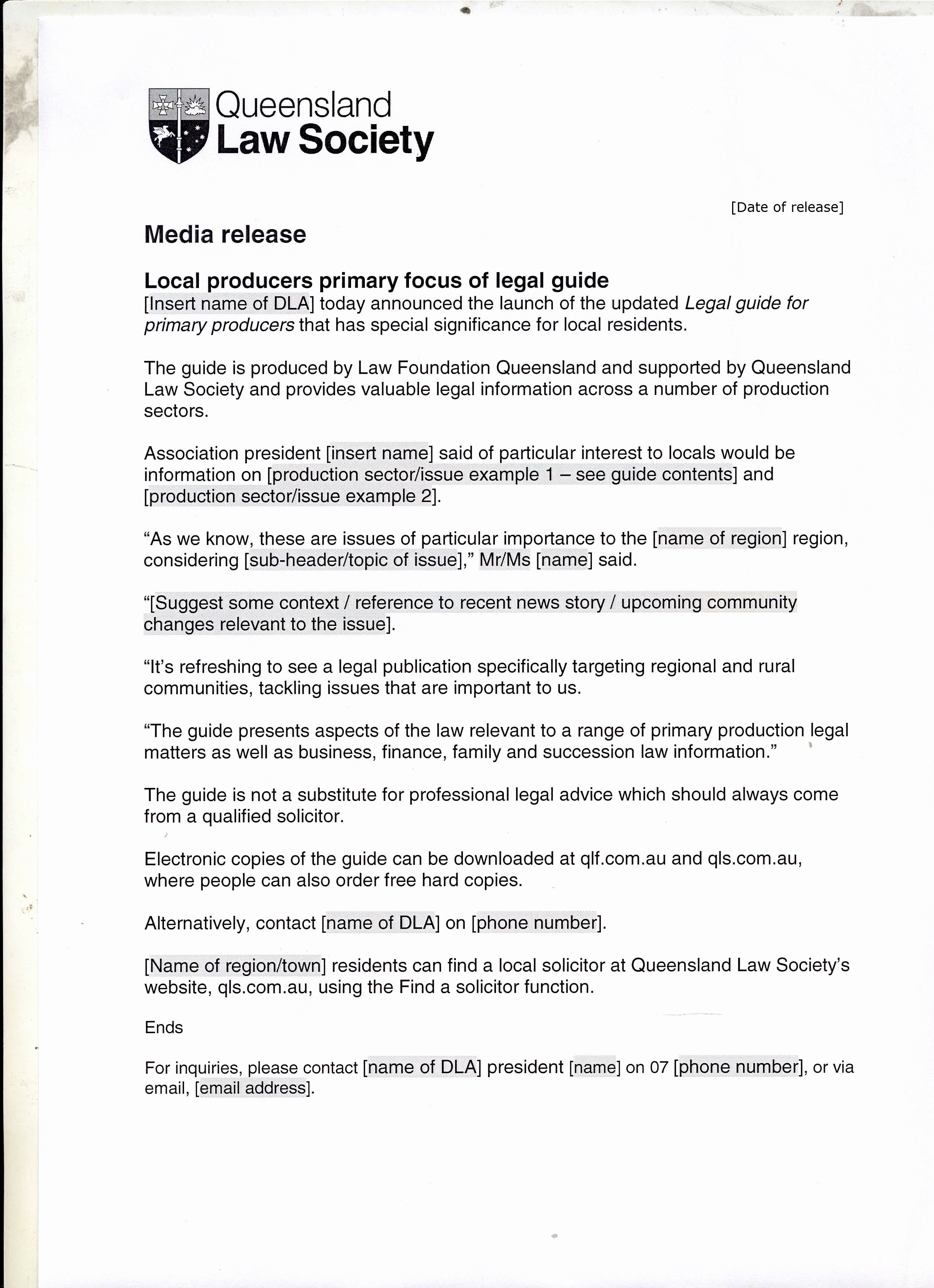 Media Release form Template Elegant Media Release Template Local Producers Primary Focus Of