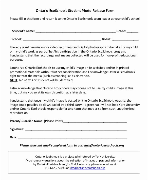 Media Release forms Template Beautiful Release form Template 9 Free Pdf Documents