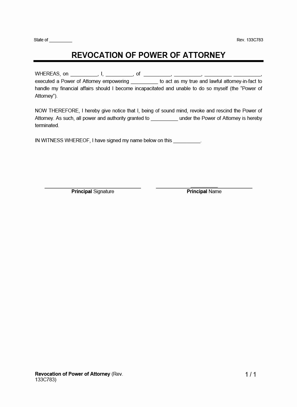 Media Release forms Template Best Of Create A Revocation Power attorney Legaltemplates