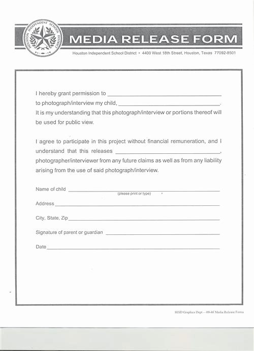 Media Release forms Template Unique Download Free Activity Waiver and Release form Template