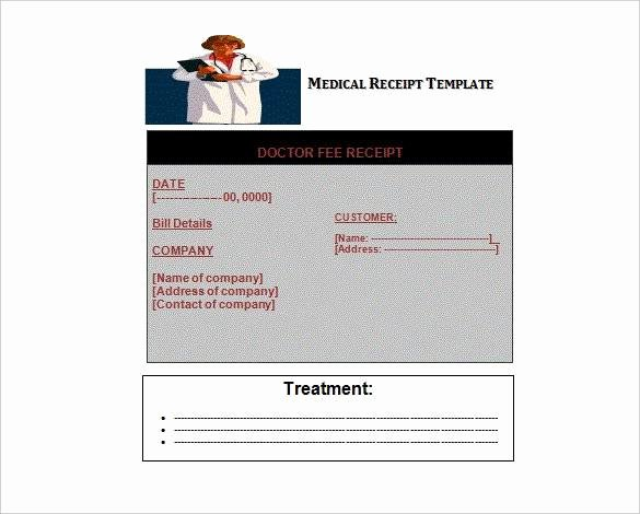 Medical Bill Template Pdf Awesome Free 11 Medical Bill Receipt Template In Pdf Word