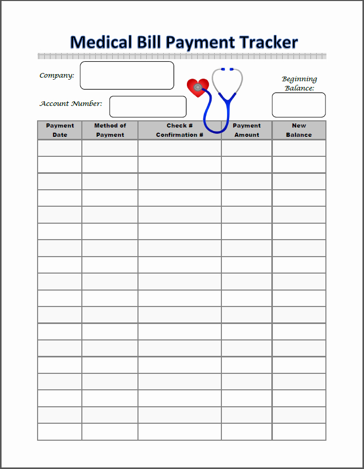 Medical Bill Template Pdf Elegant Binders 101 Medical