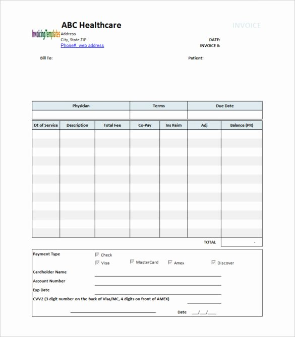 Medical Bill Template Pdf Fresh 20 Medical Receipt Templates Word Pdf Google Docs