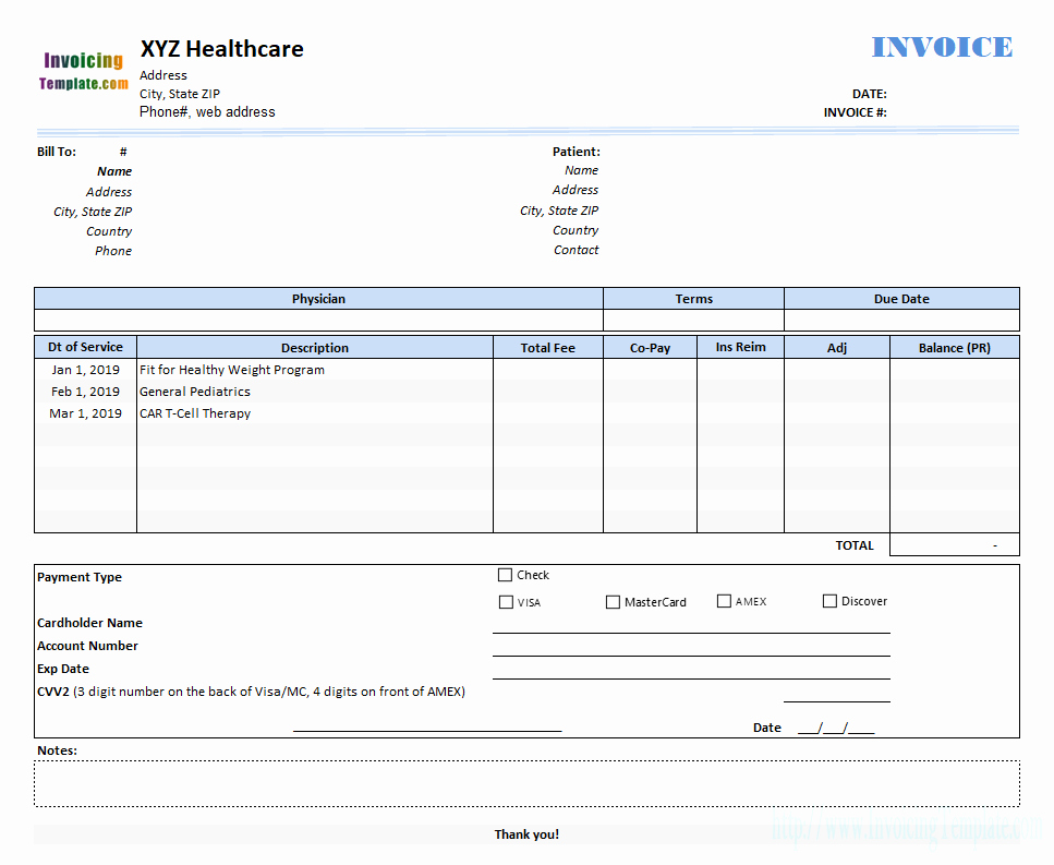 Medical Bill Template Pdf Fresh Medical Invoice Template 2