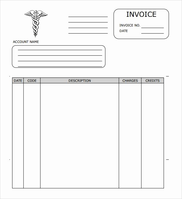 Medical Bill Template Pdf Lovely Sample Medical Invoice Template 16 Free Download In Pdf
