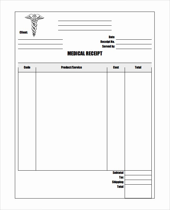 Medical Bill Template Pdf Luxury 20 Medical Receipt Templates Word Pdf Google Docs