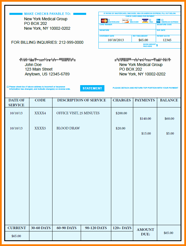 Medical Bill Template Pdf Luxury Sample Itemized Hospital Bill – Platte Sunga Zette