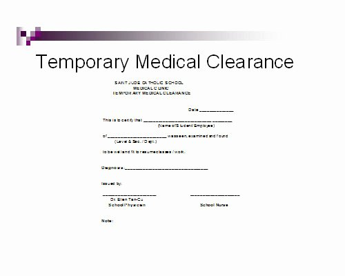 Medical Clearance Letter Template Best Of Medical Clearance form for Dental Treatment – Templates