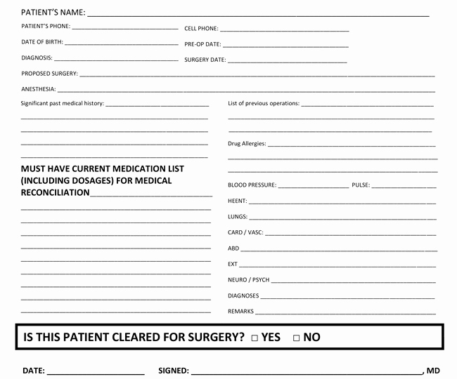Medical Clearance Letter Template Inspirational Medical Clearance form Samples 10 Best Templates and