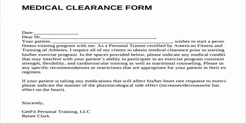 Medical Clearance Letter Template Inspirational Sample Clearance Letter format From Doctor assignment Point