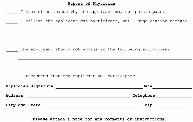 medical clearance form samples