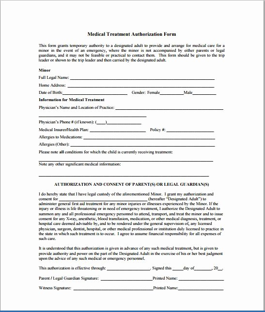 Medical Consent form Template Elegant Sample Child Consent forms Templates