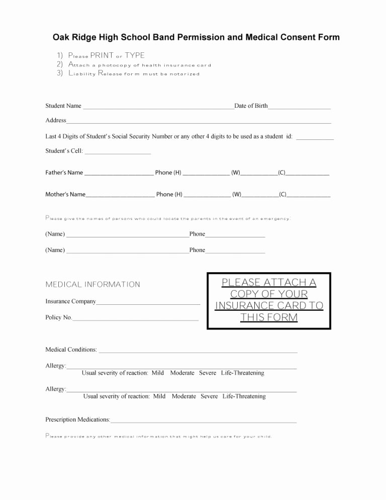 Medical Consent form Template Inspirational 45 Medical Consent forms Free Printable Templates