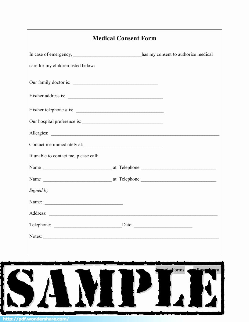 Medical Consent form Template New Medical Consent Free Download Create Fill Print Pdf
