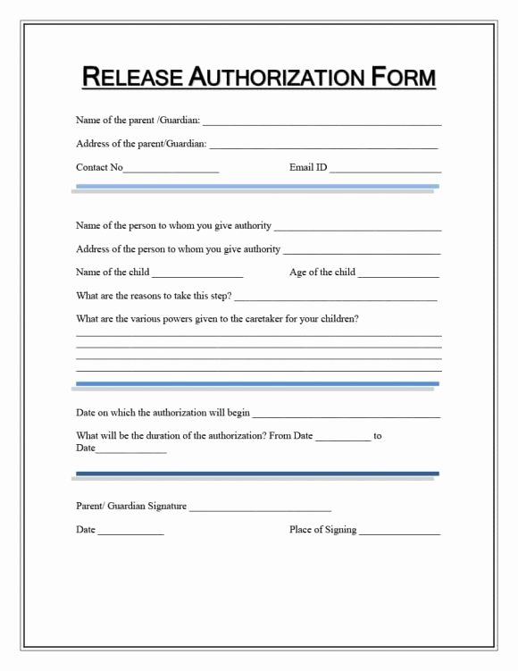Medical Consent forms Template Elegant Medical Release form Template