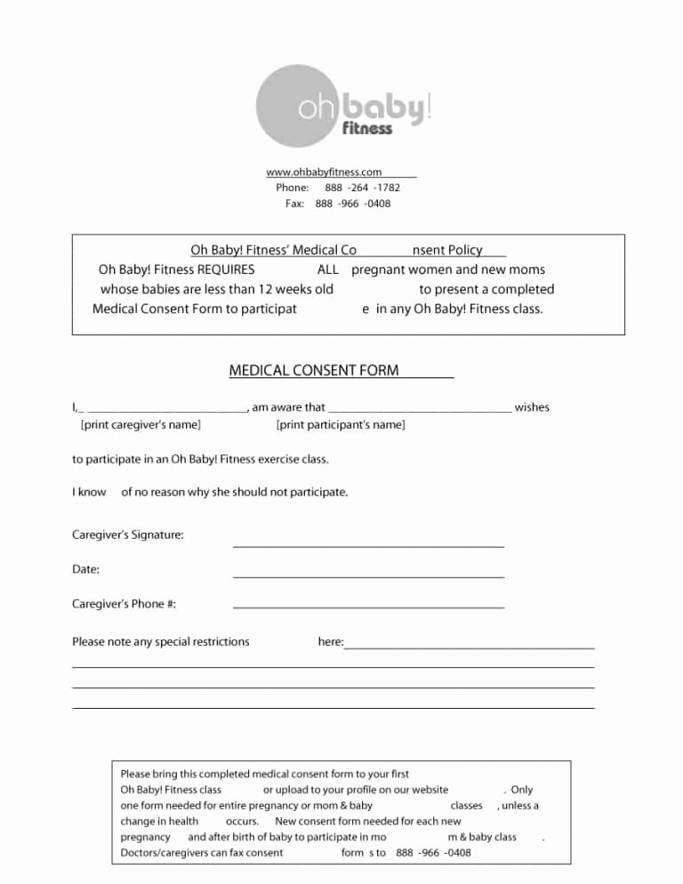Medical Consent forms Templates Beautiful 45 Medical Consent forms Free Printable Templates