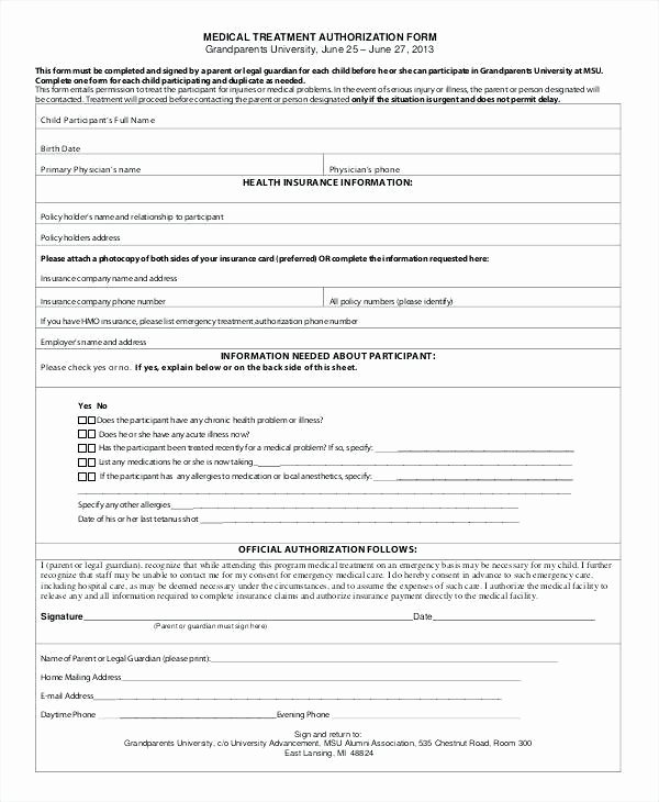 Medical Consent forms Templates Beautiful Free Printable Doctor forms – Medical Referral form