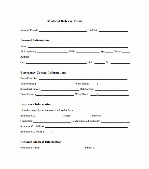 Medical Consent forms Templates Luxury Sample Medical Release form 10 Free Documents In Pdf Word