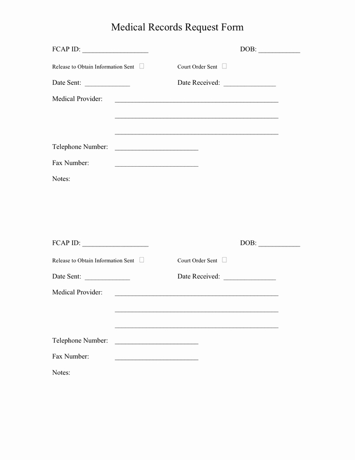 Medical Record Request Template Awesome Medical Records Request form In Word and Pdf formats