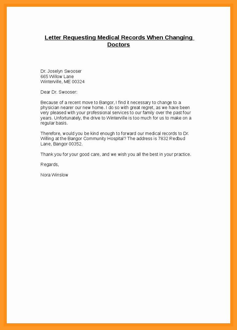 Medical Record Request Template Beautiful 12 13 Letter to Request Medical Records