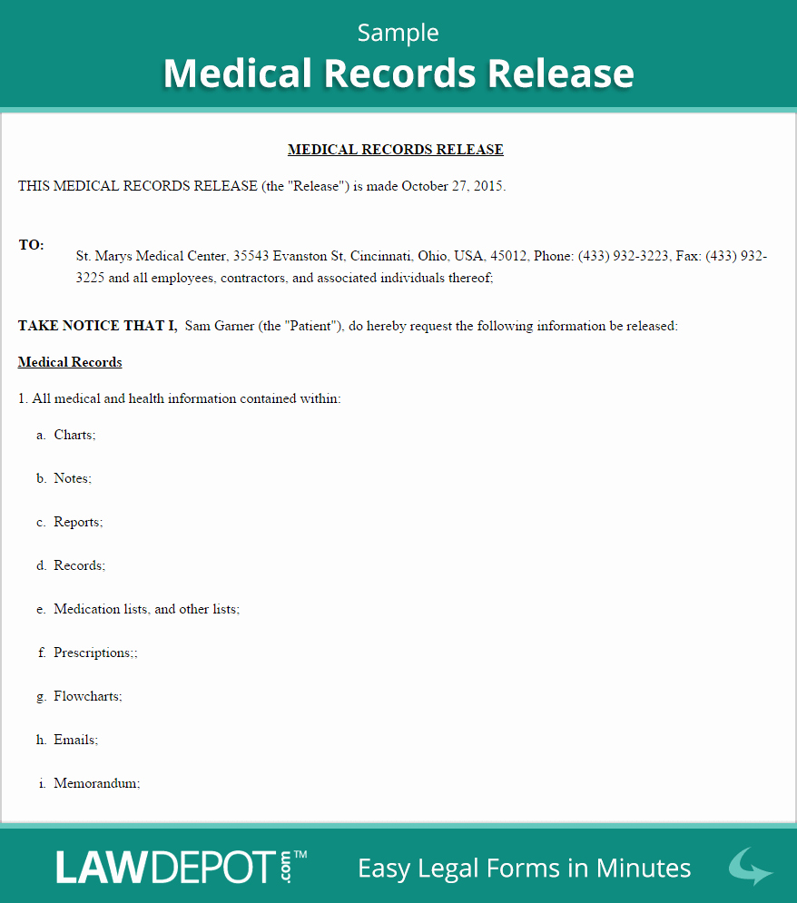 Medical Record Request Template Unique Medical Disclosure form – Templates Free Printable