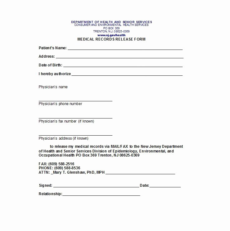 Medical Records form Template Awesome 30 Medical Release form Templates Template Lab
