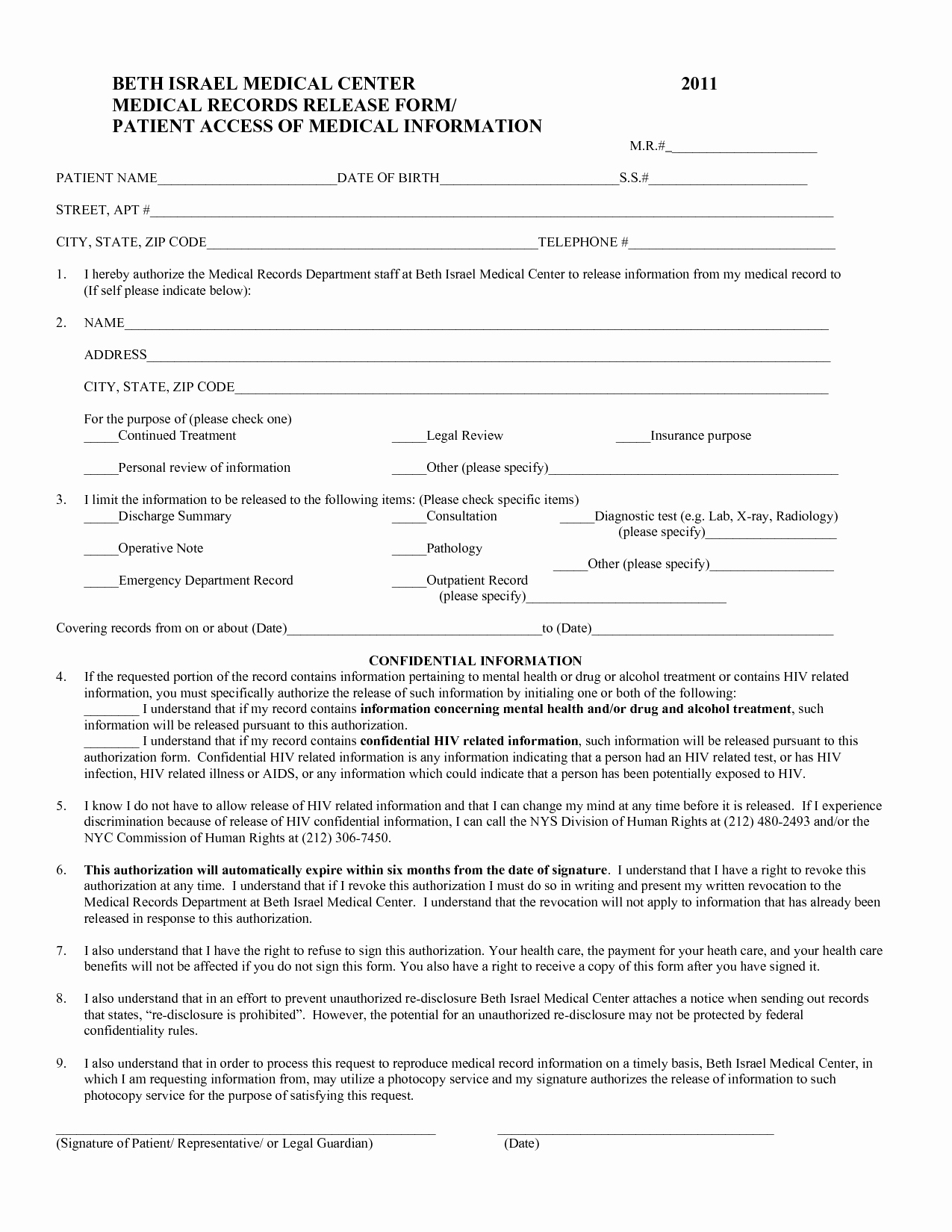 Medical Records form Template Awesome Medical form Templates