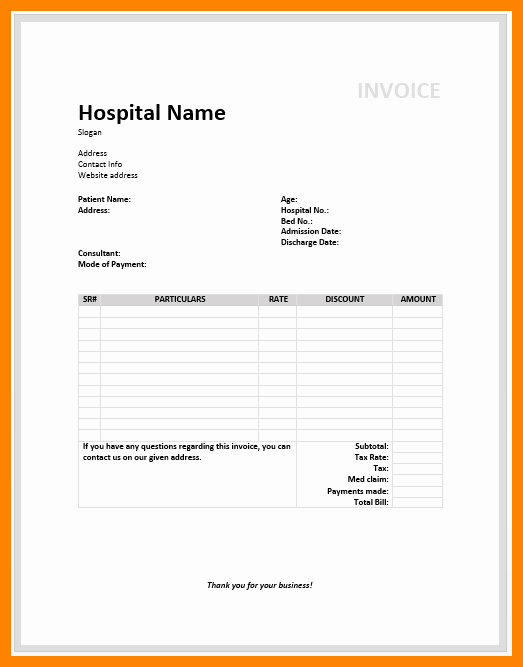 Medical Records Invoice Template Awesome 8 Medical Invoice Template Free