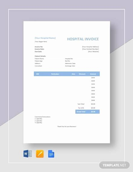 Medical Records Invoice Template Best Of Free 16 Sample Medical Invoice Templates In Google Docs